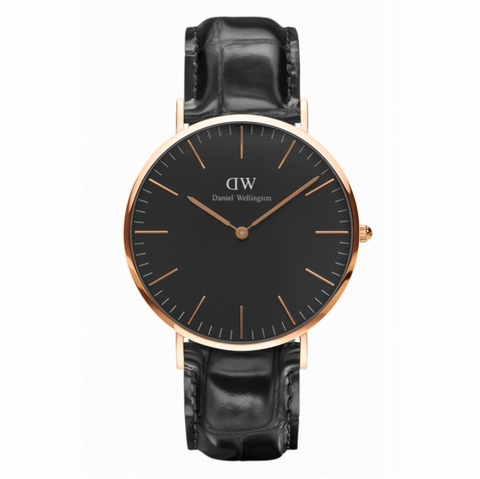 DANIEL WELLINGTON NAM CLASSIC BLACK READING DW00100129 ROSE GOLD