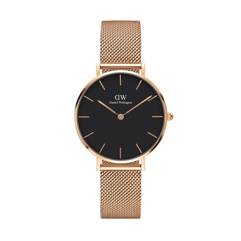 Copy of DANIEL WELLINGTON CLASSIC BLACK PETITE MELROSE ROSE GOLD (DW00100161) 32MM