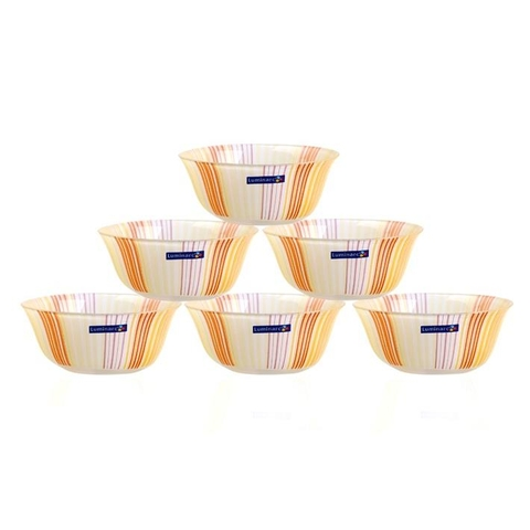 TEMP CARINA ORANGE STRIPES BOWL 12cm