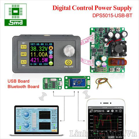 DPS5015 Communication Constant Voltage Current Step Down Digital Power Supply (DPS5015-USB with bluetooth)