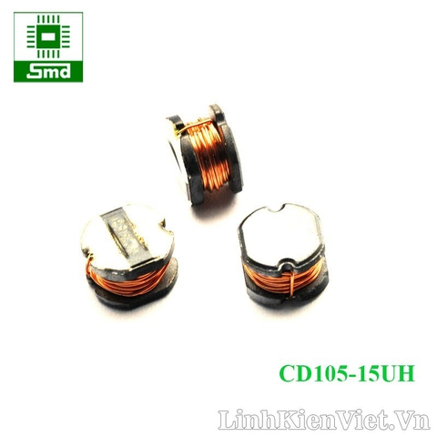 Cuộn cảm CD105 15uH (10×9×5.4mm)