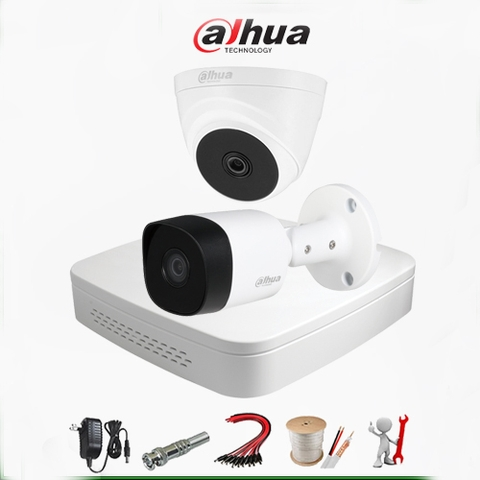 Trọn bộ 2 Camera Dahua – Analog Gold 2MP Full HD 1080P – DH2A