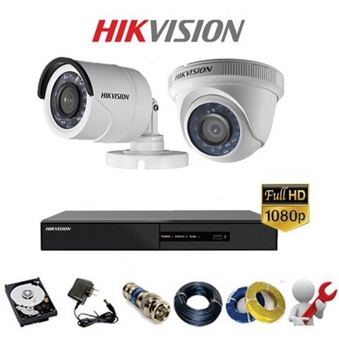TRỌN BỘ 2 CAMERA HIKVISION-ANALOG GOLD 2A Full HD