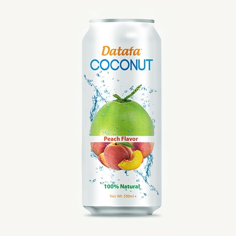 Young Coconut Water with Peach Fruit Juice