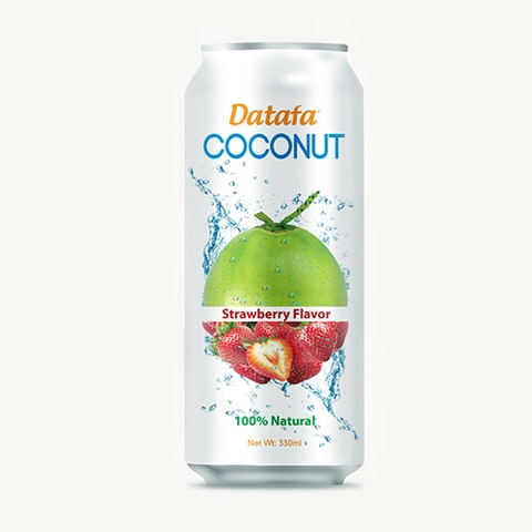 Young Coconut Water with Strawberry Fruit Juice