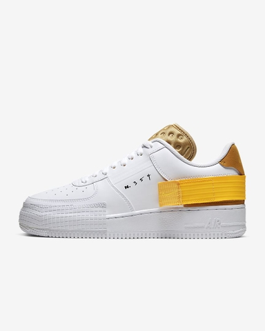 Nike AirForce Type White Gold