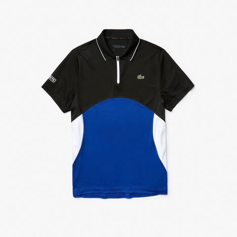 Lacoste Polo SPORT Ultra-Dry Pique ZIP BlackB 2020