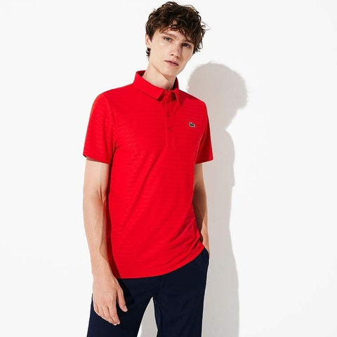 Lacoste Polo SPORT Golf Striped Red