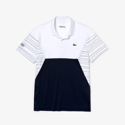 Lacoste Polo Tennis Pique White Navy (form Âu)