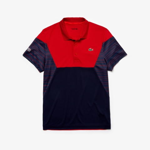 Lacoste Polo Tennis Pique Red Navy (form Âu)