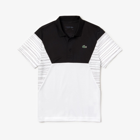 Lacoste Polo Sport Pique White Black (form Âu)