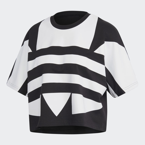 Adidas Áo Large Logo Black White