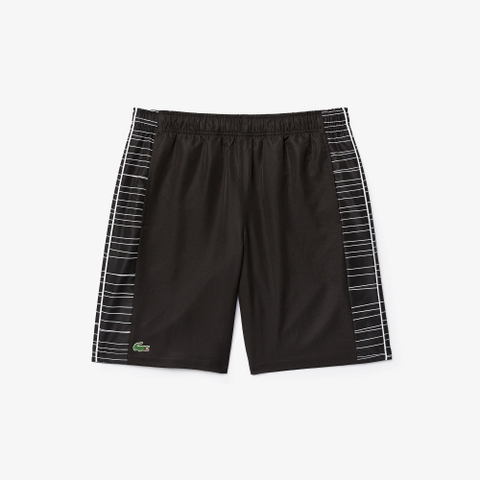 Lacoste Shorts Tennis Side-Print Black (form Âu)