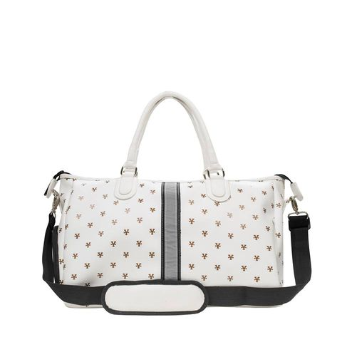 Logo Pattern Bowler Bag - White