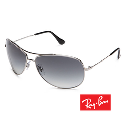 Ray-Ban RB 3293 Sunglasses Silver Frame Gray Gradient