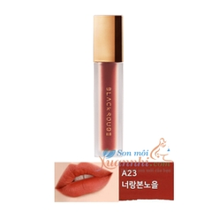 A23 Đỏ cam đấtSon Black Rouge Air Fit Velvet Tint Version 5