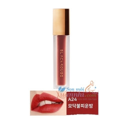 A24 Đỏ cam rực rỡ Son Black Rouge Air Fit Velvet Tint Version 5