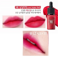 Son kem lì Peripera Peri's Ink Velvet màu No.9 Love Sniper Red