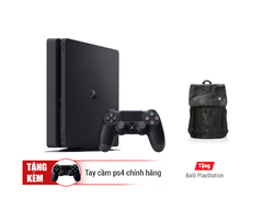 Máy PS4 Slim 500G + 2 tay + Balo Playstation