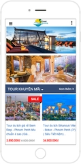 Giao diện web du lịch Travel Booking