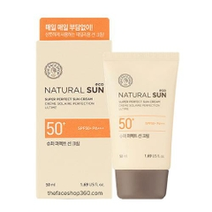 Chống nắng Thefaceshop Natural Sun Eco Super Perfect Sun Cream