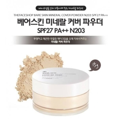 Phấn bột Thefaceshop Bare Skin Mineral Cover Powder