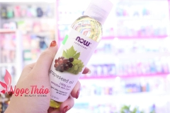 Dầu Hạt Nho Now Grapeseed Oil 100% Pure Sensitive Skin Care