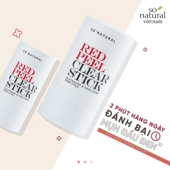 Thanh lăn mụn So'natural Red Peel Clear Stick
