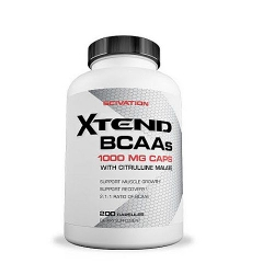 SciVation Xtend BCAAs 1000mg Caps with Citrulline Malate, 200 Capsules