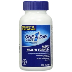 One A Day® Men's Health Formula. Lọ 200 viên