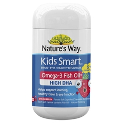 Viên dầu cá Nature's Way Kids Smart Omega 3 Fish Oil Strawberry  ( Date 01/2022)