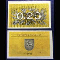 Lithuania 0.20 tanolas 1991