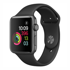 Apple Watch Series 3 GPS, 42mm Aluminum Case with Black Sport Band (MQL12)