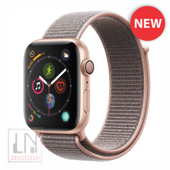 Apple Watch Series 4 - GPS - 44mm Gold Aluminum Case with Pink Sand Sport Loop