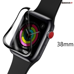Cường lực Baseus Full viền 5 lớp chống trầy cho Apple Watch Full-Screen 3D Curved Tempered Glass ( 0.2mm, Soft Screen Protector for Apple Watch Series 1/2/3/4/5)
