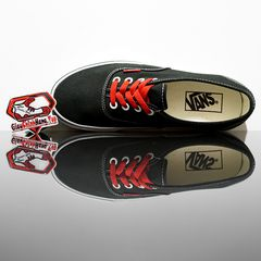 VANS Authentic (Sketch Sidewall) Black/Red