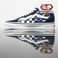 VANS Old Skool (Checker Flame) Navy/True White