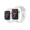 Apple Watch Series 4 Silver Aluminum/White Sport Band