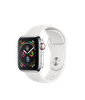 Apple Watch Series 4 Stainless Steel/White Sport Band GPS+LTE