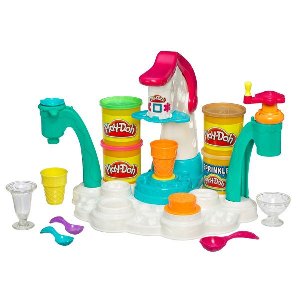 Hình ảnh bộ sản phẩm đất nặn Play-Doh 32917 - Máy làm kem đa năng