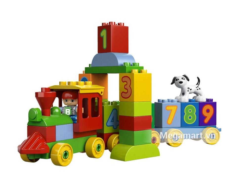 Lego Duplo 10558 - Đoàn tàu các con số với những con số trong từng mảng ghép
