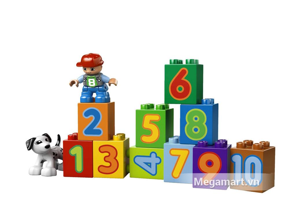 Bộ lego 10558 sẽ giúp nhiều cho bé trong quá trình học chữ số