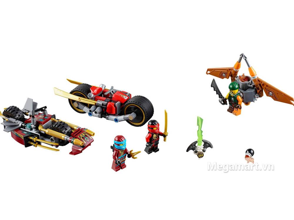 Lego Ninjago 70600 - Xe địa hình Ninja được trang bị nhiều xe đua và vũ khí ấn tượng dành cho các nhân vật