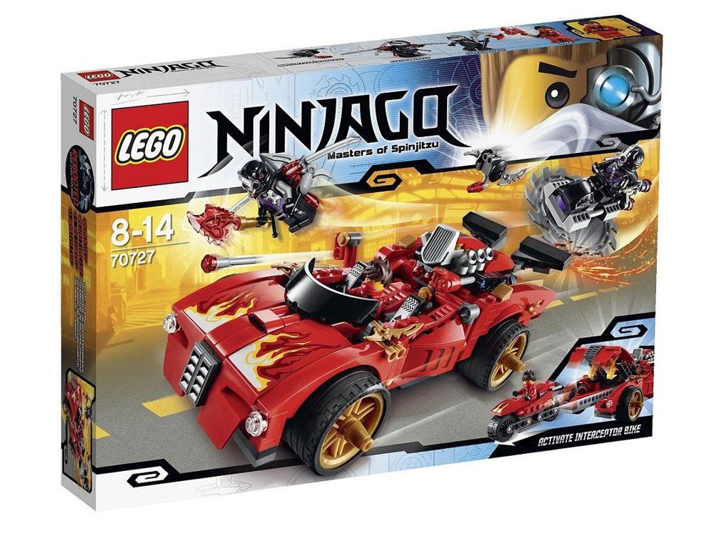 Vỏ hộp sản phẩm trong bộ xếp hình Lego Ninjago 70727