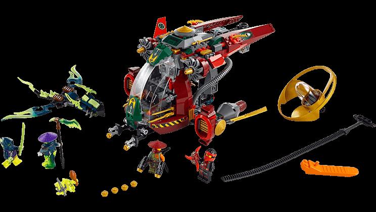 Các chi tiết có trong bộ Lego Ninjago 70735 - Tàu Chiến Ronin R.E.X
