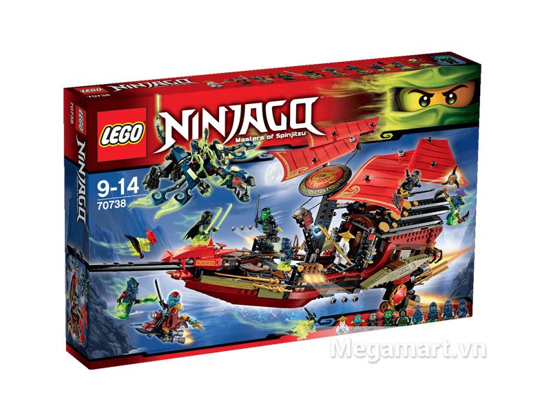 Vỏ hộp sản phẩm Lego Ninjago 70738 - Chuyến Bay Cuối Cùng Của Destiny's Bounty