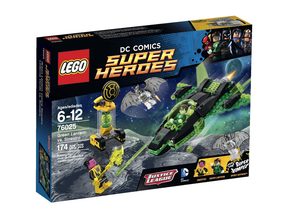 Lego Super Heroes 76025 - Green Lantern vs. Sinestro vỏ hộp sản phẩm