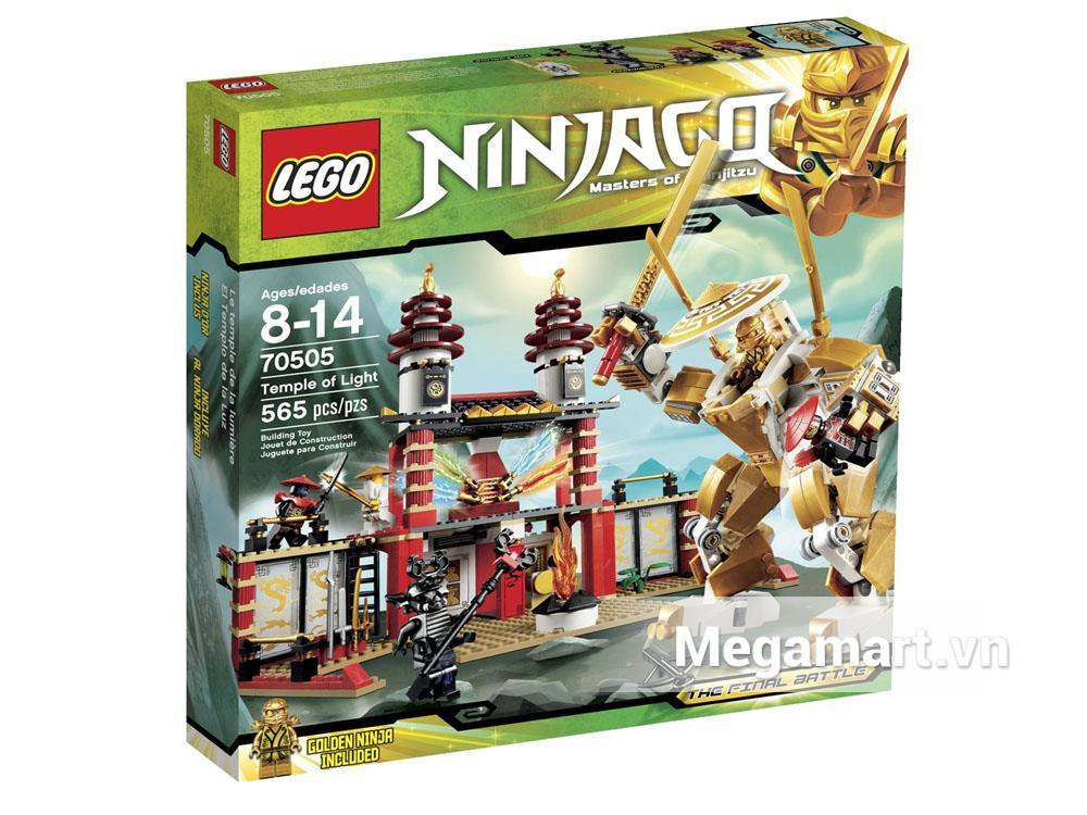 Vỏ hộp sản phẩm Lego Ninjago 70505 - Ngôi đền ánh sáng