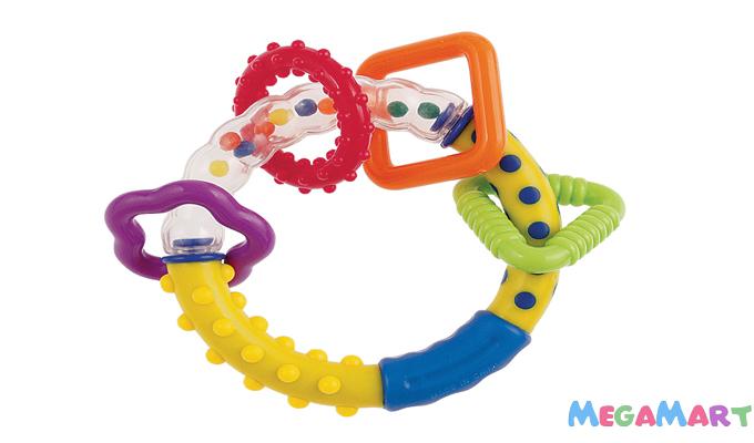 Bố mẹ nên chọn mua đồ chơi nhiều màu sắc, kết hợp lục lạc, xúc xắc cho các bé sơ sinh