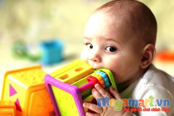 Trẻ ở độ tuổi hay gặm đồ chơi thì bố mẹ càng cần chú ý hơn